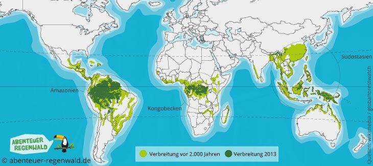 regenwald karte Abholzung des Regenwaldes   Abenteuer Regenwald