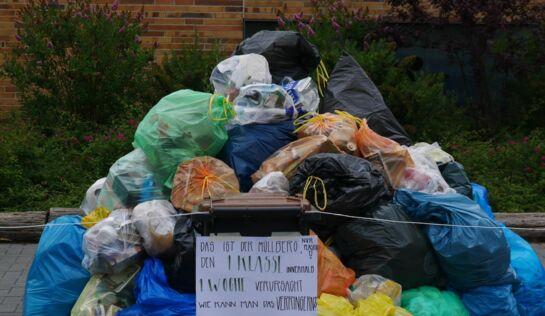 Flüchtlinge Hinterlassen Müll