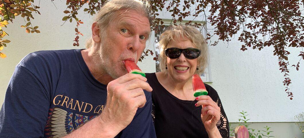 richtig leckeres wassermeloneneis  schnell gemacht